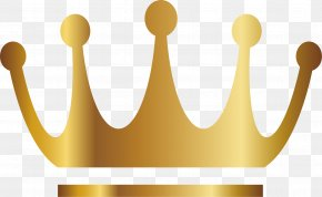 Vector Hand-painted Gold Crown - Gold PNG