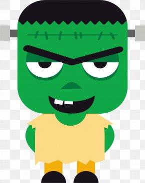 Green Evil Monster - Monster Clip Art PNG