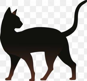 Cat - Cat Silhouette Kitten PNG