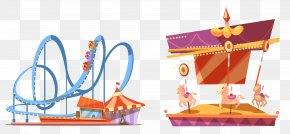 Vector Amusement Park - Coney Island Universal Orlando Amusement Park Roller Coaster PNG