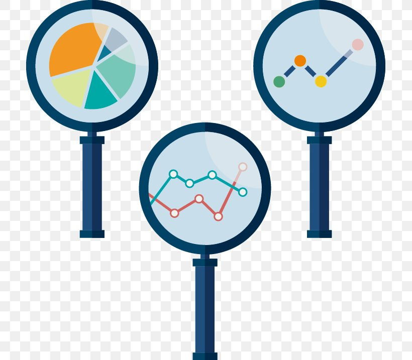 Euclidean Vector Magnifying Glass Chart Icon, PNG, 715x717px, Magnifying Glass, Area, Chart, Data, Infographic Download Free