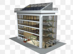 Glass Building - Window Facade Glass Commercial Building PNG