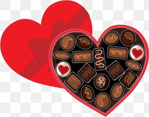 Valentine Bucket Cliparts - Chocolate Box Art Candy Valentines Day Clip Art PNG