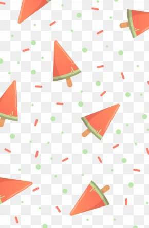 Watermelon Ice Cream Shape Vector Illustration - Ice Cream Cone Euclidean Vector Illustration PNG