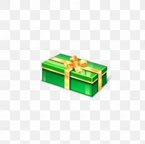 Green Gift Box - Gift Box Green Icon PNG