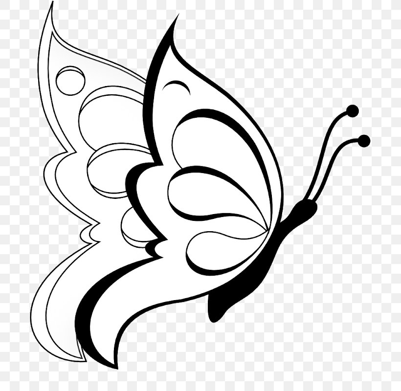 Butterfly Coloring Book Drawing Sketch, PNG, 774x800px, Butterfly, Art, Artwork, Black, Black And White Download Free