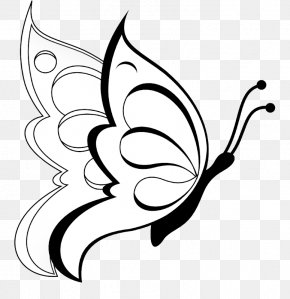 Thank You Enjoy - Butterfly Coloring Book Drawing Sketch PNG