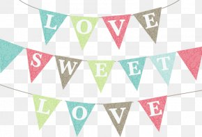 Flag Banner - Love Heart Banner PNG