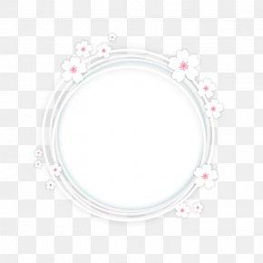 Sakura Bottom Frame - Cherry Blossom Clip Art PNG