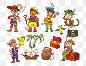Pirates Various Elements - Piracy Royalty-free Cartoon Illustration PNG