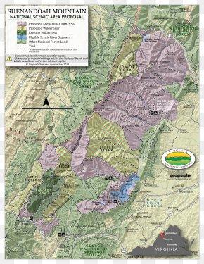 Map - Shenandoah Valley Shenandoah River George Washington And Jefferson National Forests Shenandoah Mountain Appalachian National Scenic Trail PNG