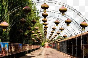 Qingming River Park Landscape - Along The River During The Qingming Festival Photography PNG