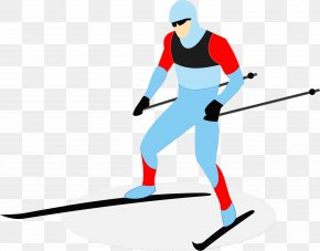 Slalom Skiing Downhill - Cross-country Skiing Transparency Silhouette Alpine Skiing PNG