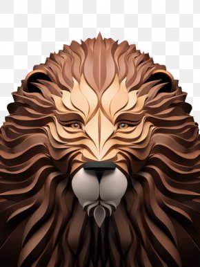 Lion - Digital Art Illustrator 3D Computer Graphics Illustration PNG
