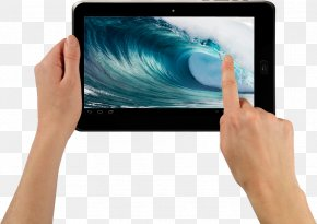 Tablet In Hands Image - IPad Android Wallpaper PNG