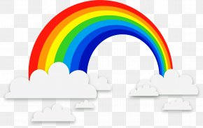 Exquisite Rainbow Clouds Background Vector Material - Rainbow Euclidean Vector PNG
