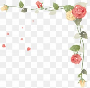 Floral Frame - Rose Flower Stock Photography Clip Art PNG