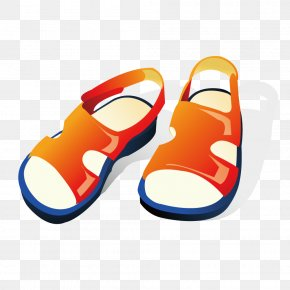 Vector Children Summer Sandals - Sandal Flip-flops Free Content Clip Art PNG