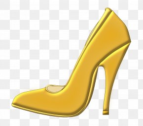 Yellow High Heels - Slipper High-heeled Footwear Shoe Boot Clip Art PNG