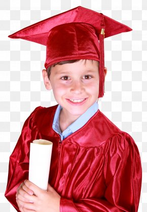 Little Boy In Graduation Gown And Mortarboard - Graduation Ceremony Academic Dress Square Academic Cap Bachelors Degree PNG
