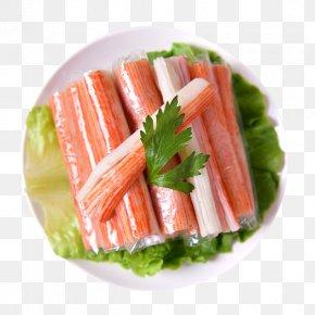 A Plate Of Hot Pot Crab Shawl - Sashimi Crab Hot Pot Carpaccio Smoked Salmon PNG