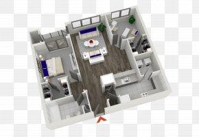 Roof Plan - 3D Floor Plan House Plan Apartment PNG