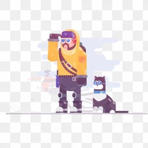 Traveler And His Dog - Animation Motion Graphics Motion Graphic Design Illustration PNG