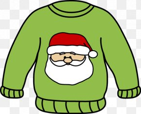 Santa Clothes Cliparts - Hoodie Sweater White Christmas Jumper Clip Art PNG