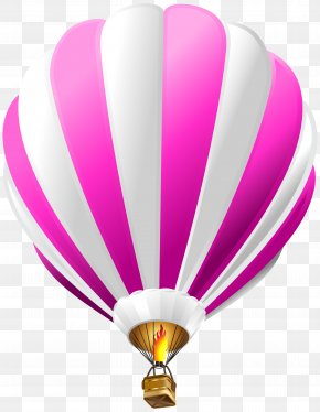 Hot Air Balloon Pink Transparent Clip Art Image - Hot Air Balloon Flight Airplane Clip Art PNG