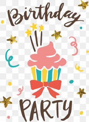 Hand-painted Cake Birthday Party - Birthday Cake Party PNG