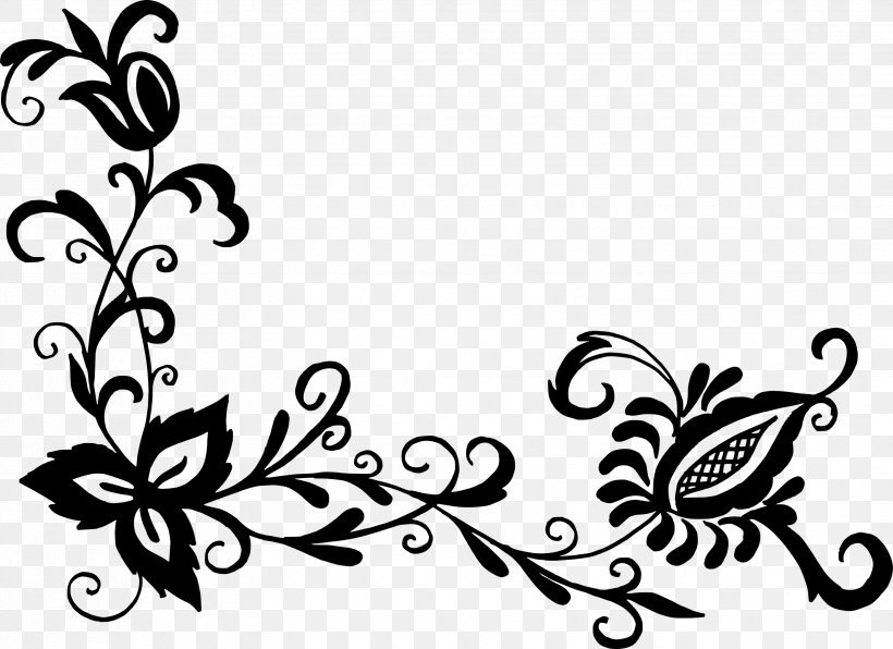40 Most Popular Flower Pattern Flower Clipart Png Black And White Prontuario Degabiente