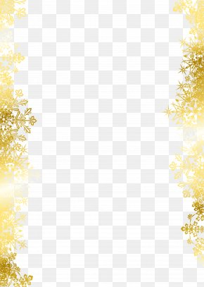 Golden Snowflake - Snowflake Texture Mapping Pattern PNG