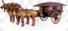 Great Wall Of China - Terracotta Army Mausoleum Of The First Qin Emperor Emperor Of China Qin Bronze Chariot PNG