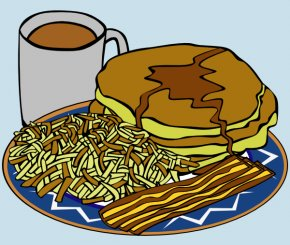 Hash Cliparts - Coffee Sausage Breakfast Pancake English Muffin PNG