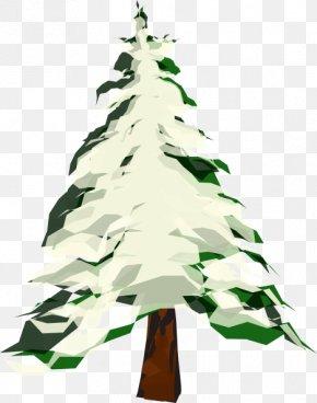 Cartoon Pine Tree - Tree Winter Pine Clip Art PNG