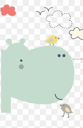 Hippo Birdie - Hippopotamus Hippo Pottymouth Hippo's Yawn Sapsali PNG
