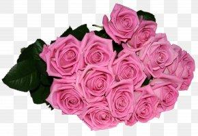 Bouquet - Garden Roses Birthday Flower Clip Art PNG