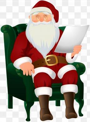 Santa Claus Sitting Clip Art Image - Santa Claus Christmas Clip Art PNG