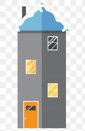 Vector High-rise Building Roof Snow - Roof Building PNG