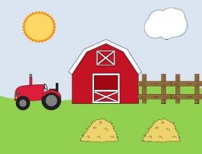 Barn Cliparts Template - Happy Farm Barn Clip Art PNG