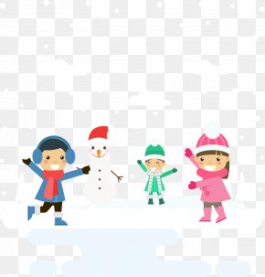 Winter Snow And Children - Snowman Winter PNG