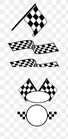 Vector,Cartoon,pattern,Racing Car,banner - Auto Racing Racing Flags PNG