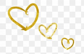 Valentines Day Love Golden Elements - Love Qixi Festival Valentines Day PNG