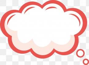 Pink Lace Dialogue Bubbles - Clip Art PNG