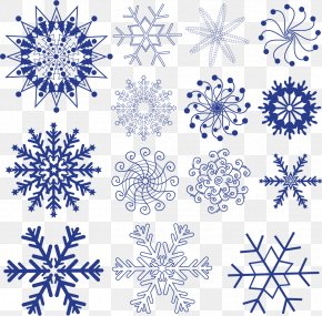 Blue Snowflake Pattern Material - Snowflake Tattoo Machine Celtic Knot PNG