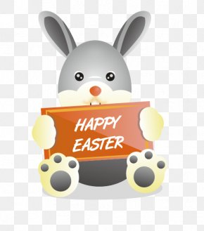 Easter Bunny - Easter Bunny Easter Egg Rabbit PNG