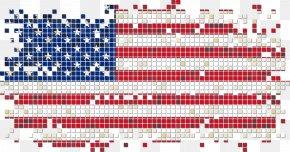 Vector American Flag Pixel - Flag Pixel Illustration PNG