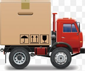 Truck Vector - Truck Intermodal Container Cargo Freight Transport PNG