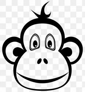 Black Monkey - Ape Monkey Chimpanzee Clip Art PNG