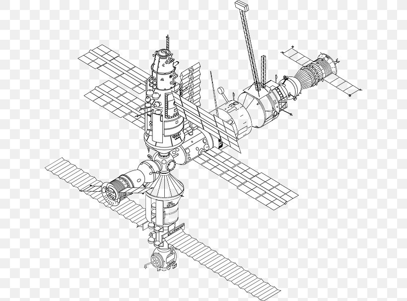 International Space Station Mir Drawing Png 640x606px